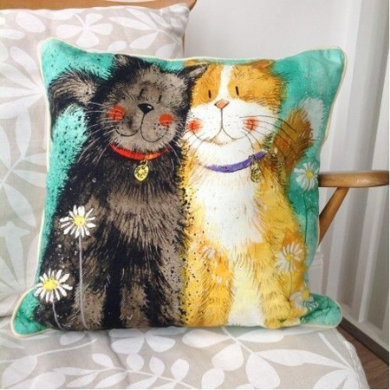 Toffee and Treacle Cushion By Alex Clark